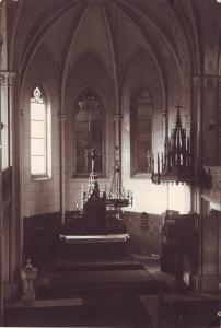 Původní interiér kostela - 1959