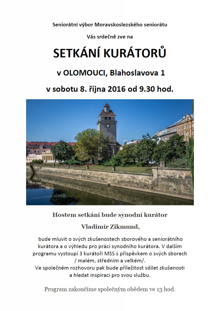 Setkání kurátorů MSS v Olomouci 2016